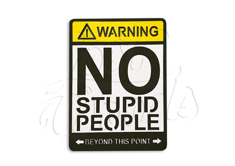 Cuadro No Stupid People