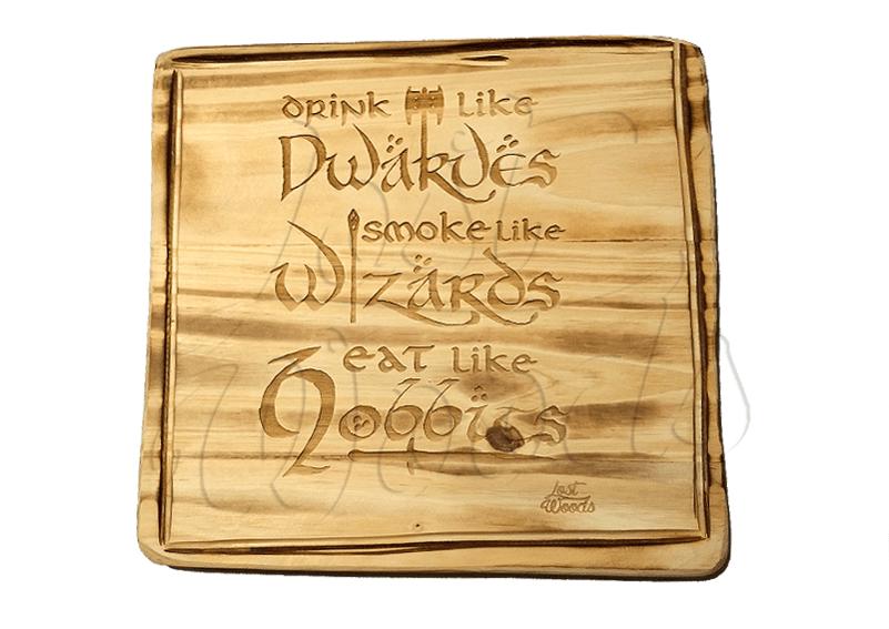 Tabla Cocina Dwarves, Wizards y Hobbits (Tolkien)