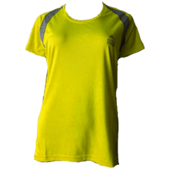 Remera Running DAMA Amarillo Fluo con Gris - Black Rock - RRDO