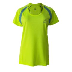 Remera Running DAMA Amarillo Fluo - Black Rock - RRDO