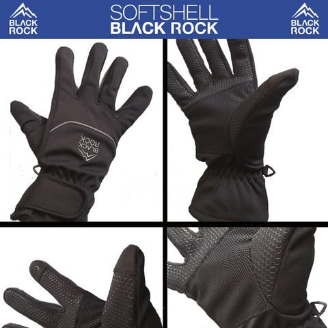 Guante SOFTSHELL - BLACK ROCK - GU02