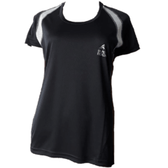 Remera Running DAMA Negro con Gris - Black Rock - RRDO