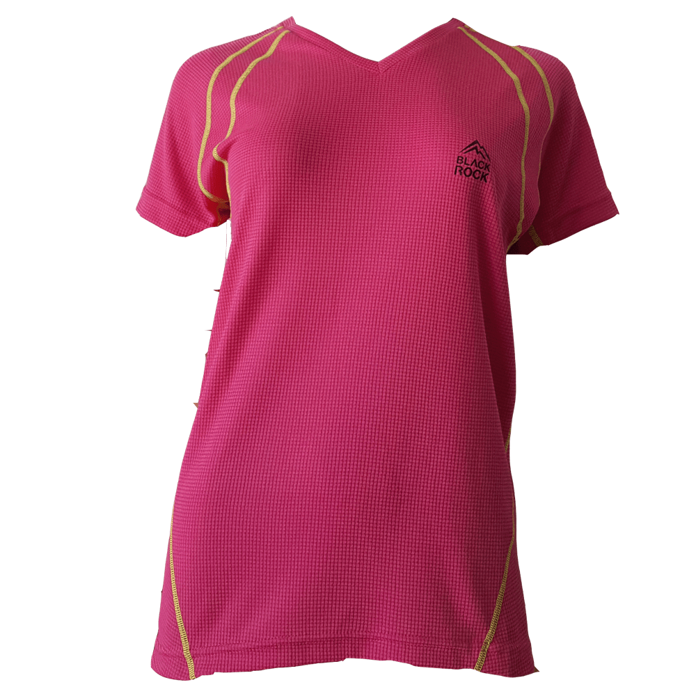 Remera Running - DAMA Fucsia - Black Rock - RRDV