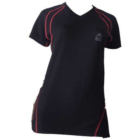 Remera Running - DAMA Negro - Black Rock - RRDV