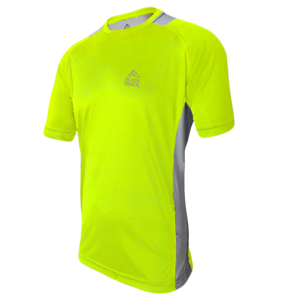 Remera Running CABALLERO AMARILLO Fluo - Black Rock -RRH 1