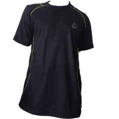 Remera Running CABALLERO Negro - Black Rock - RRH