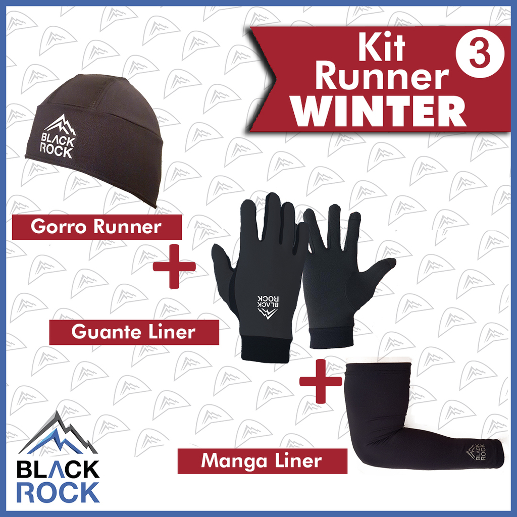 KIT 3 Run Winter   - BLACK ROCK
