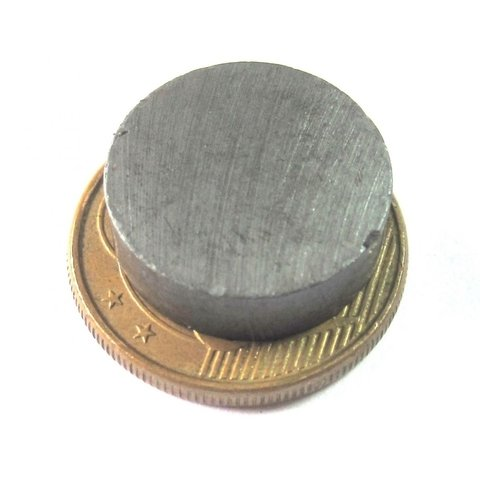 Imã de Ferrite 16x5mm - Disco