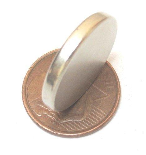 30a8fb6a894 Imã Neodímio N35 Ø22x3mm - Disco - Br Imãs