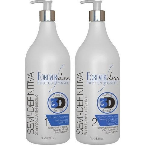 Kit escova semi definitiva gloss forever liss Power 3D System