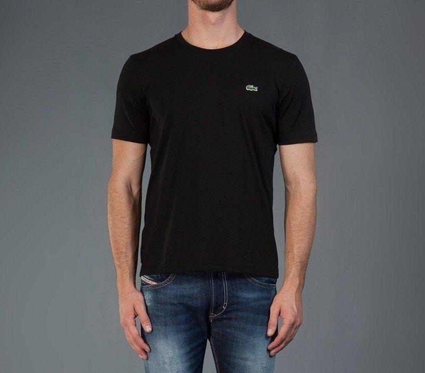 77370a671e322 Camiseta Lacoste Preta Algodão Pima - Loja Interbrands