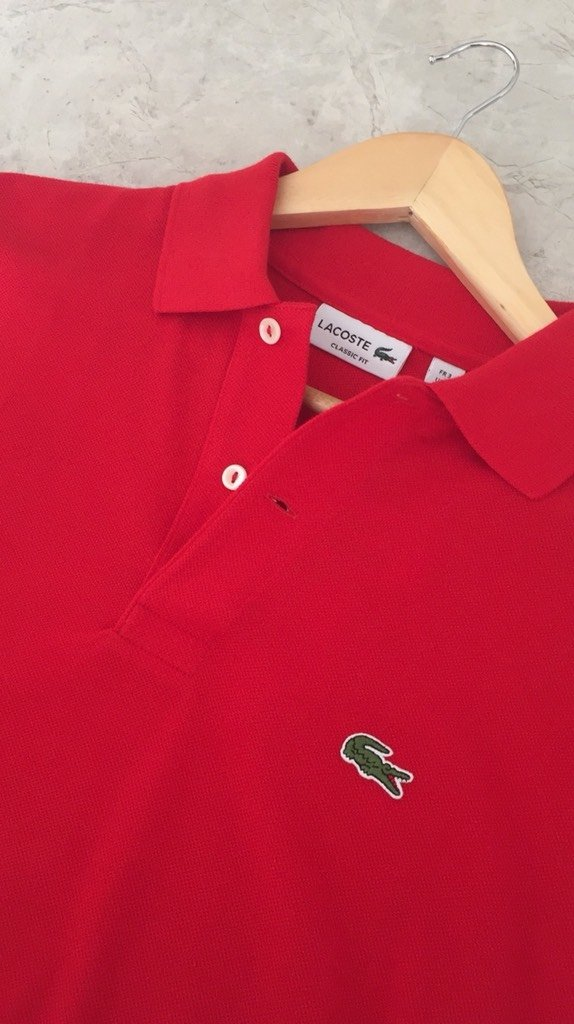 8d77310c252 Polo Lacoste Vermelha Classic Fit - Loja Interbrands