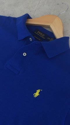 Polo Ralph Lauren Azul Royal Custom Fit - loja online