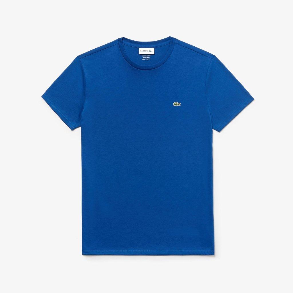 3d2021faf4e Camiseta Lacoste Azul Royal Algodão Pima