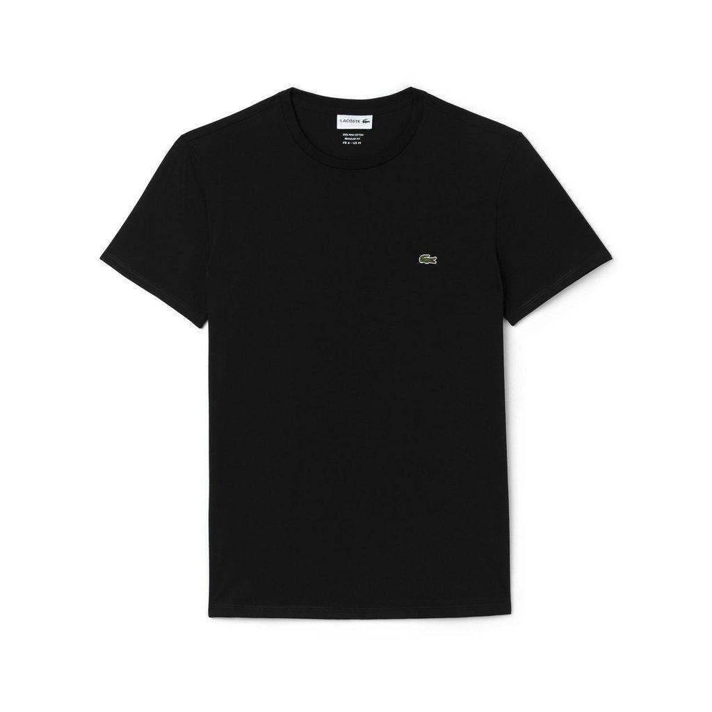 f34d3ef91ab Camiseta Lacoste Preta Algodão Pima - Loja Interbrands