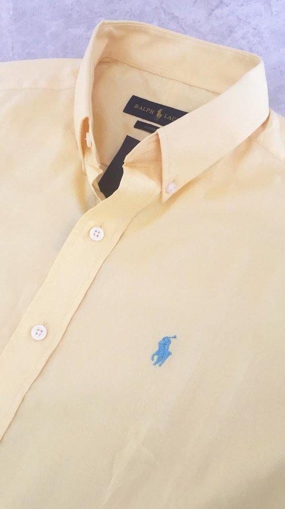 Camisa Ralph Lauren Manga Curta Custom Fit 720c9aabd7a