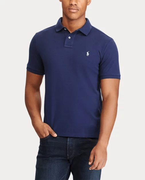 Polo Lauren Ralph Azul Fit Slim Custom 7ybfg6