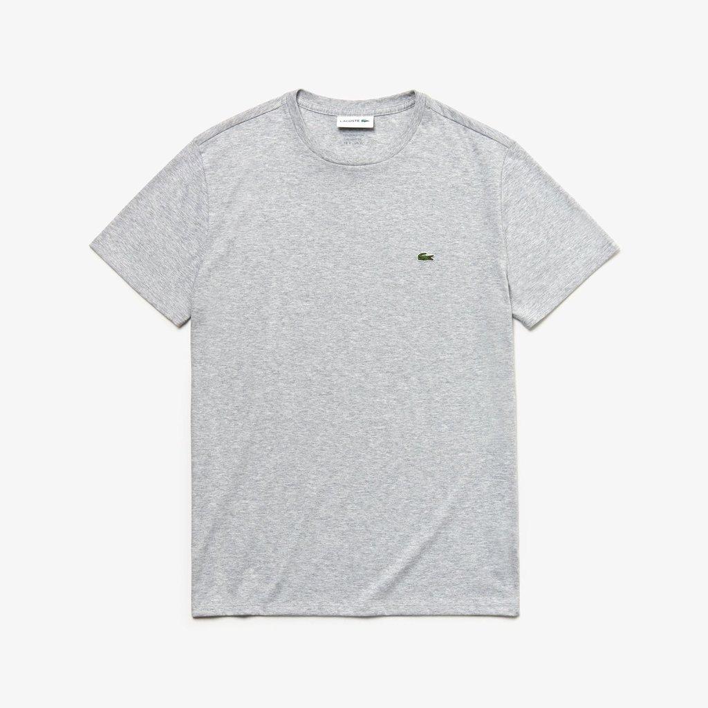 a5804180244e5 Camiseta Lacoste Cinza Algodão Pima - Loja Interbrands