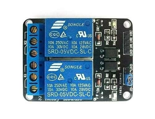 Modulo Arduino Rele 5v 2 Canais Mundo Eletronica