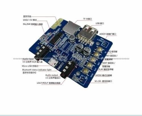 Modulo Som Usb Sd Card Com Bluetooth