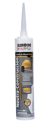 Silicona Neutra - Construccion  suprabond x 280 ml