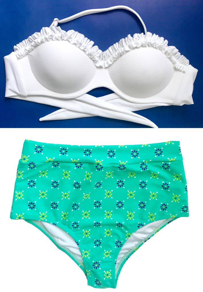 UpTiro Conjunto ArmadoArmar Tu Alto Bikini EstampadoTop Pin Culotte Perfecto DWHEeI29Y