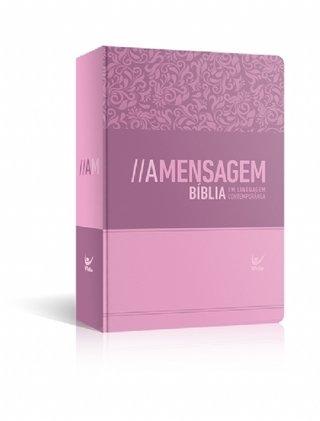Bíblia A Mensagem - Semi-Luxo Rosa