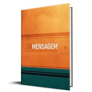 Bíblia A Mensagem - Luxo Laranja e Verde