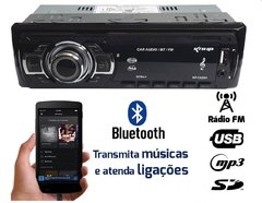 Rádio Automotivo Bluetooth 60w MP3 KP-C22BH - comprar online