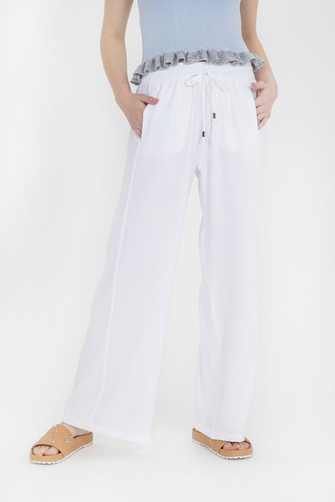 pantalon crisantemo blanco