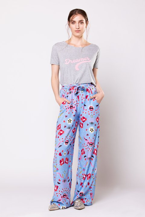 pantalon pop estampado