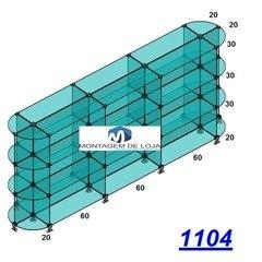1104-Gôndula de centro em vidro 2,2mts