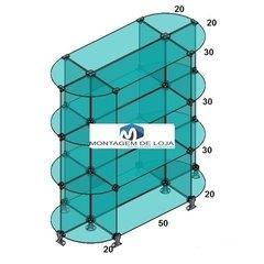 1080 Gôndula de centro em vidro 90cm