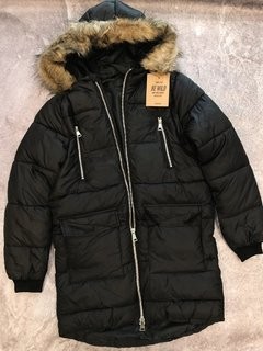 CAMPERA PARKA INFLABLE NEGRA