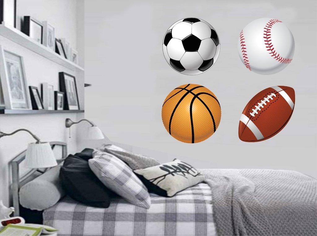 c28a2ae75 Adesivo de Parede Infantil Bolas Esportes