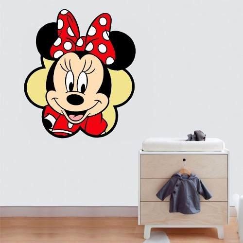 Adesivo Parede Quarto Crianca Rosto Minnie Vermelha
