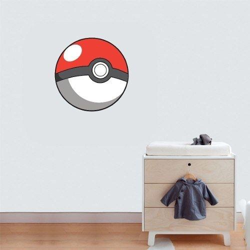 Adesivo Parede Quarto Infantil Desenho Pokemon Pokebola