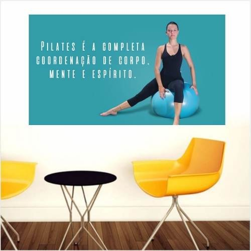 Adesivo Parede Estúdio Pilates Exercício Frase Joseph Solo