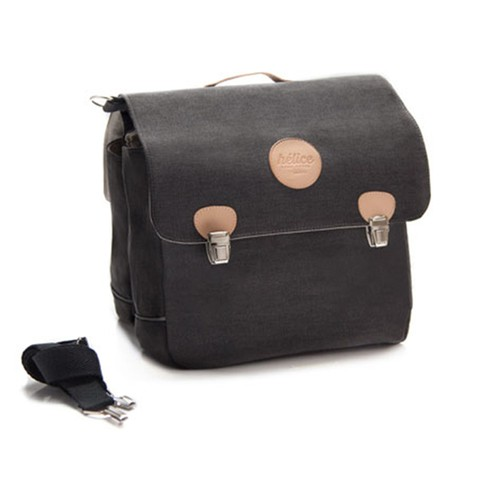 BRIEFCASE SADDLE BAG | washed black