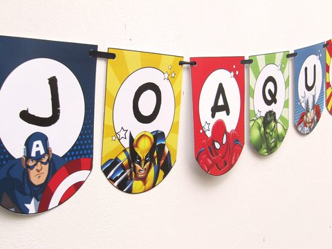 decoracion cumple superheroes
