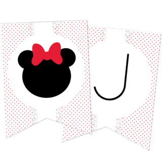Kit decoración Minnie (blanco)