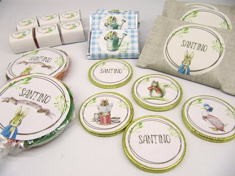 Etiquetas Candy Bar Peter Rabbit p/ 20 niños en internet