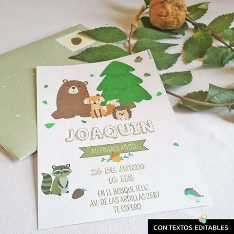 Kit imprimible Animales del Bosque