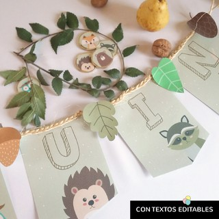 Kit imprimible Animales del Bosque - comprar online