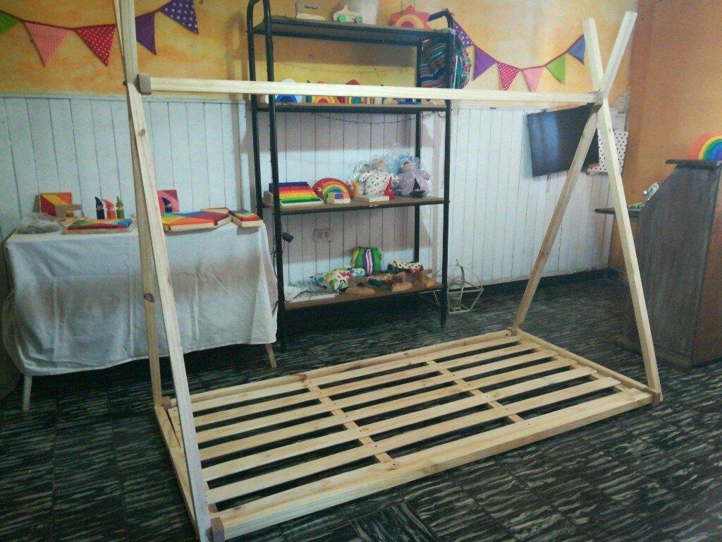 "Cama de piso Montessori ""Tipi Indio"" 1 plaza"