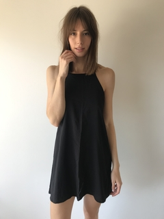 Vestido corto Luz /black - Rebeca Shoes
