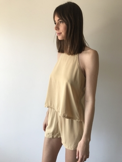Musculosa Mimi /camel - Rebeca Shoes