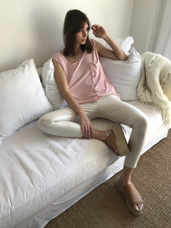 PANTALON CINDY ENGOMADO /WHITE en internet