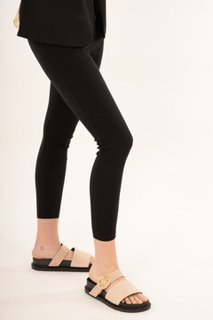 Pantalon Tela Amber /Black - Rebeca Shoes