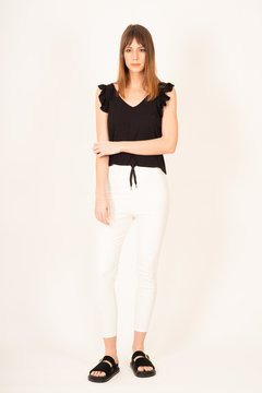 PANTALON CINDY ENGOMADO /WHITE